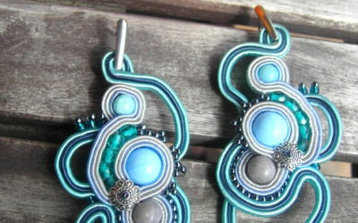 Kolczyki Soutache La Rivière Turquoise/ Soutache Earings