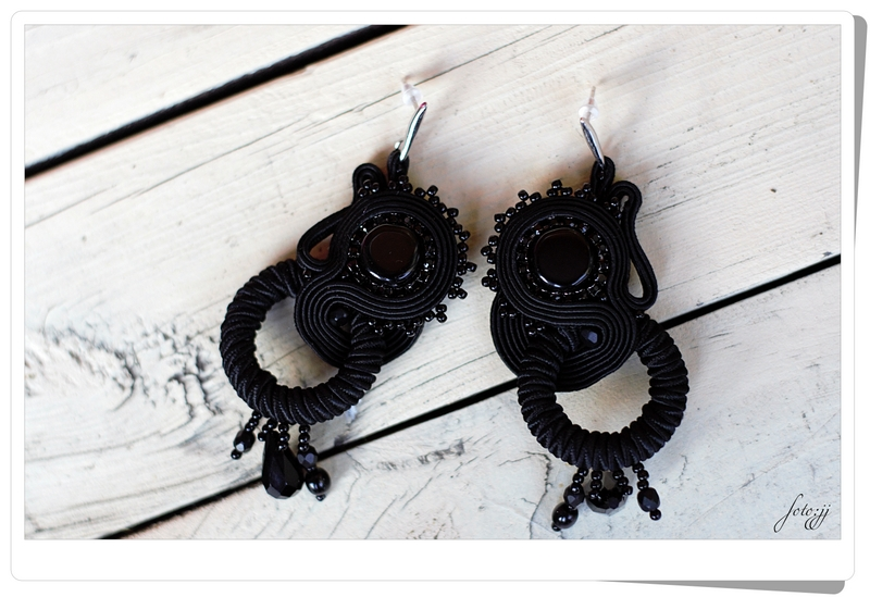 Kolczyki Soutache Black Night